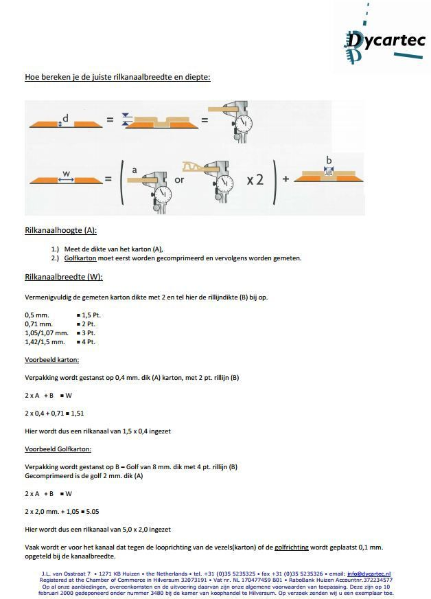 calculation aid channel width heighth