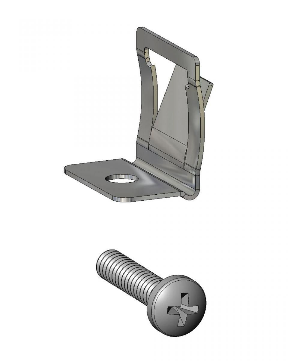mounting clip for cl100 and flush presser