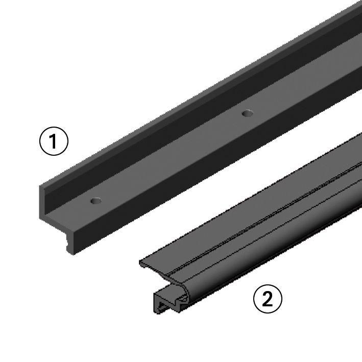 universal and screwless mounting rail