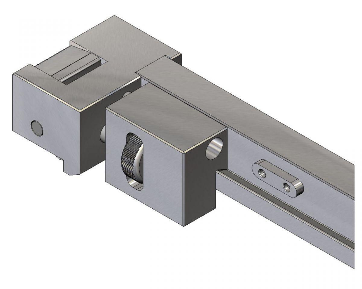 receiver rail close up adjustment