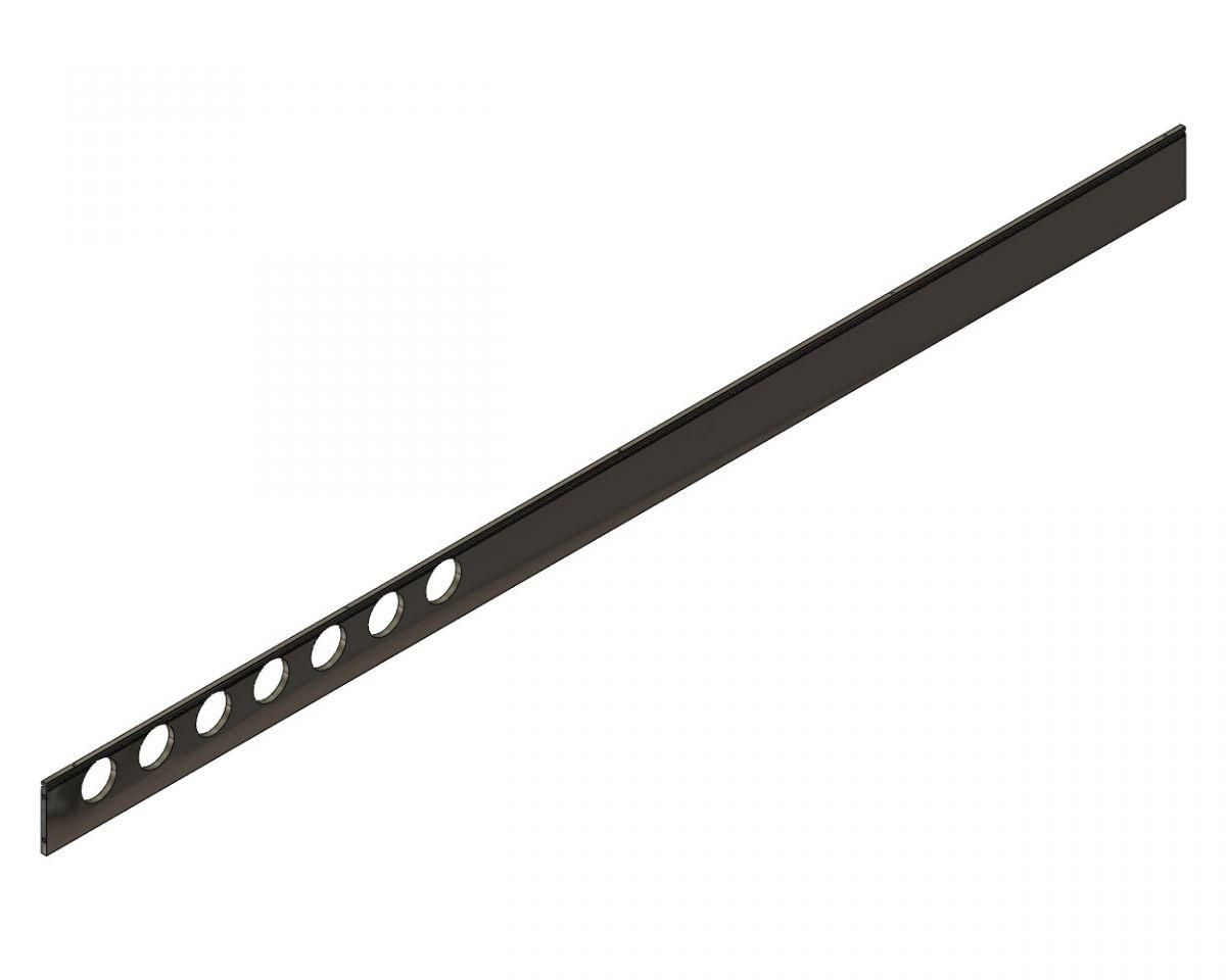 support rail for flat top tool
